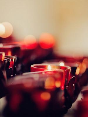 蜡烛散景移动壁纸