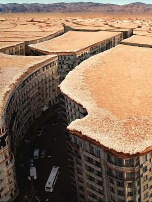 都市风景沙漠手机壁纸