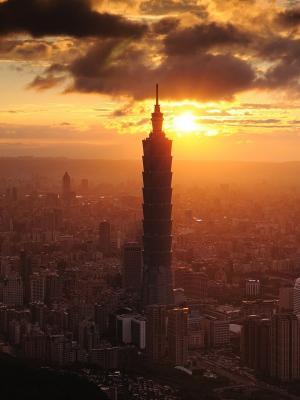 云城市景观建筑移动壁纸