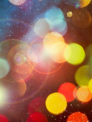 散景圈颜色灯移动壁纸