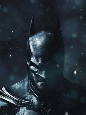 蝙蝠侠冬季黑色手机壁纸