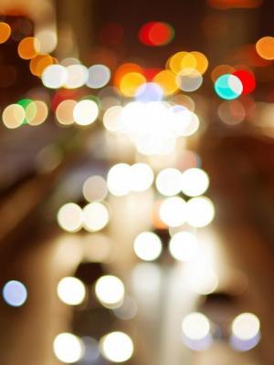 散景灯汽车城夜移动壁纸