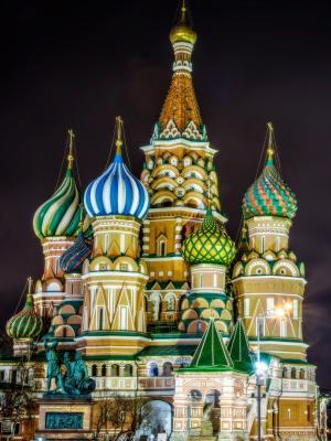 圣瓦西里大教堂,莫斯科,俄罗斯移动壁纸