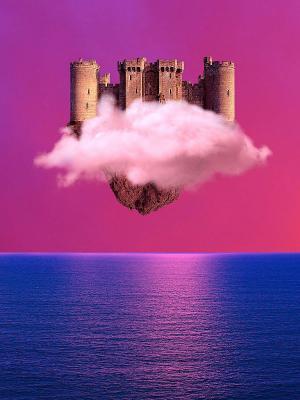 城堡浮动移动壁纸