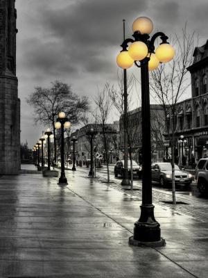 街道灯笼手机壁纸