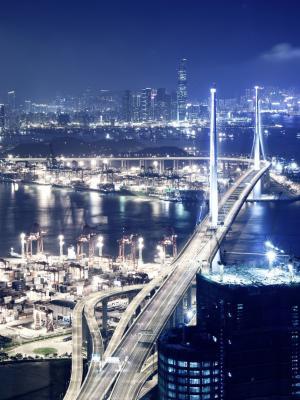 香港之夜手机壁纸