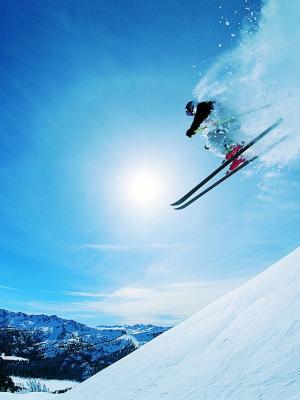滑雪运动手机壁纸