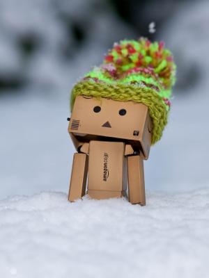 发现雪的移动墙纸的Danbo