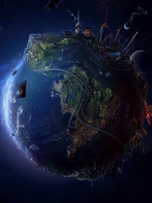 3D地球视图手机壁纸