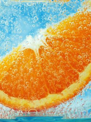切片橙色流动墙纸
