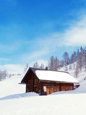 雪仙境手机壁纸