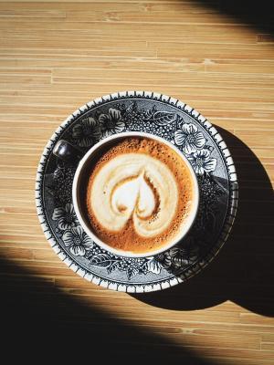 轻的心脏咖啡咖啡移动墙纸