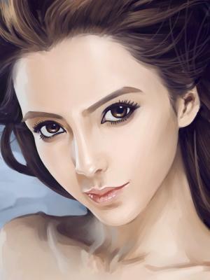 女性的脸艺术品手机壁纸