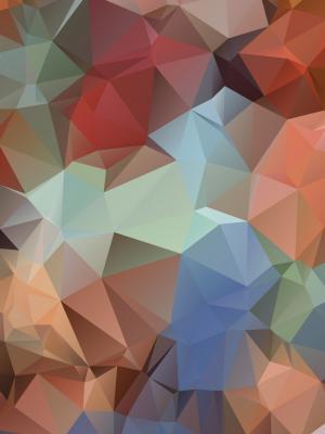多边形表面手机壁纸