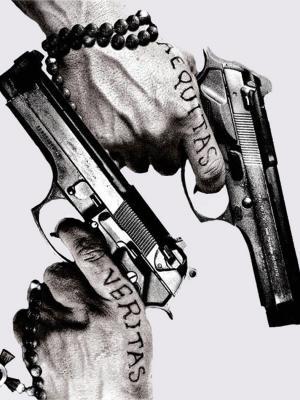 纹身枪手机壁纸