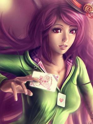 艺术女孩粉红色头发移动壁纸