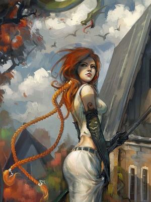 艺术女孩红发秋季移动壁纸