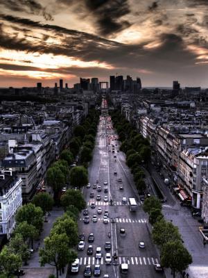 巴黎风景城市景观手机壁纸