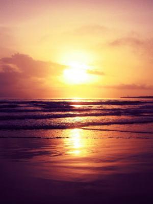 海滩日落移动壁纸