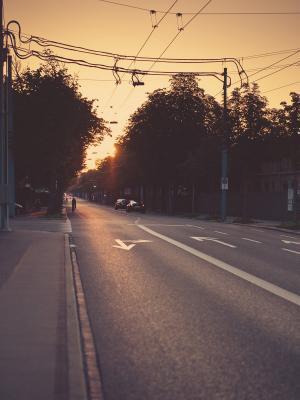 街道城市移动壁纸