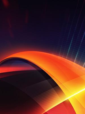 抽象橙色手机壁纸