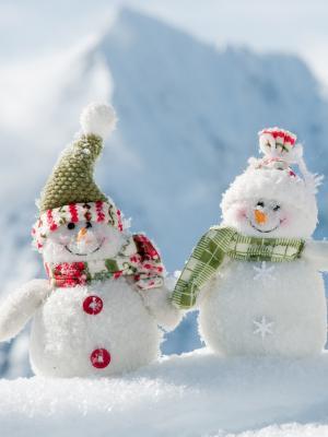 圣诞节雪人移动壁纸