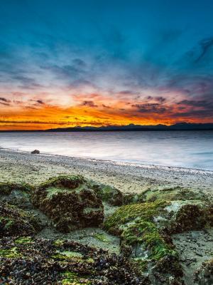 海边日落移动壁纸
