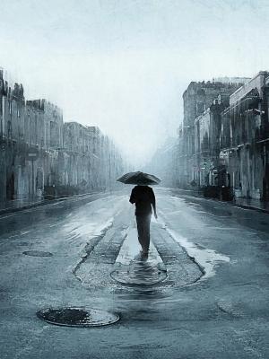 街道雨手机壁纸