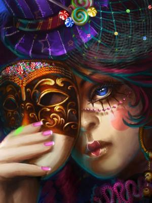 艺术作品女性手机壁纸