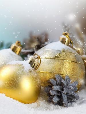 圣诞节装饰手机壁纸