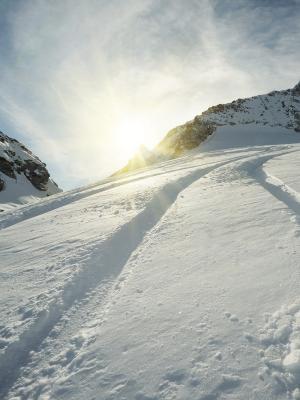 山滑雪移动壁纸
