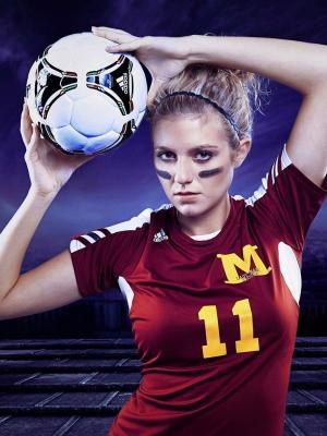 足球女孩手机壁纸