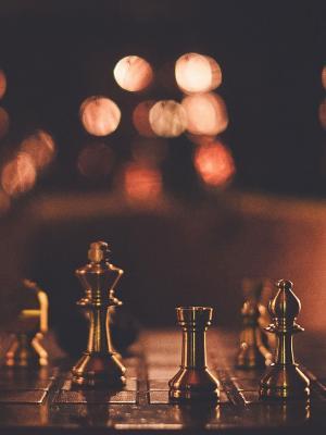 国际象棋策略板手机壁纸