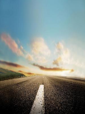 自然地平线道路移动壁纸