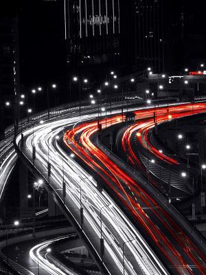 夜桥移动壁纸