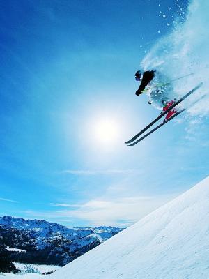 滑雪移动壁纸