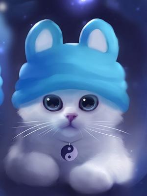 猫艺术品手机壁纸