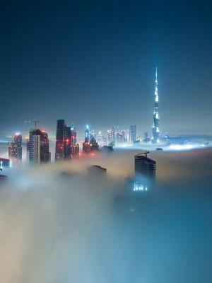 城市景观迪拜手机壁纸
