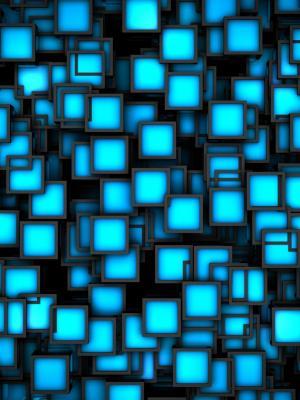 霓虹灯广场手机壁纸