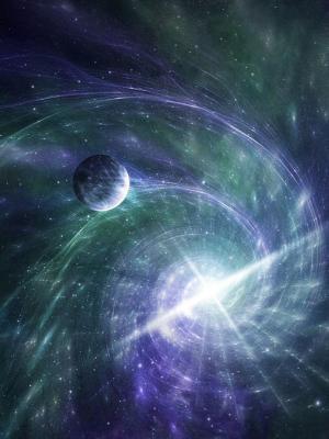 星星点亮星系手机壁纸