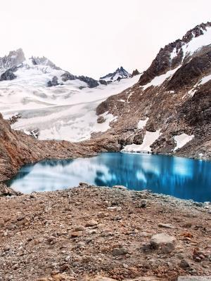 冰川山湖泊移动壁纸