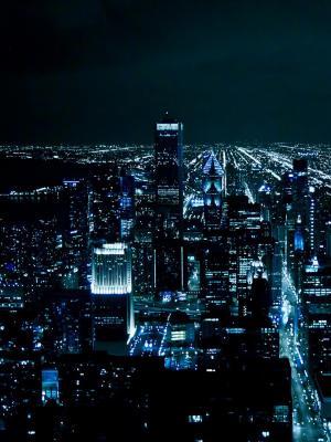 芝加哥夜移动壁纸