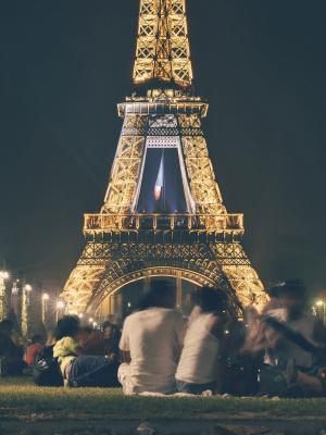 人们埃菲尔塔法国地标移动壁纸