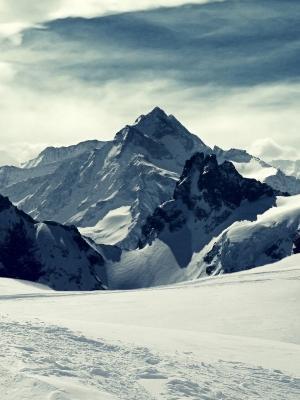 山景观雪移动壁纸
