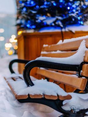 冬天的雪台式车城市移动壁纸