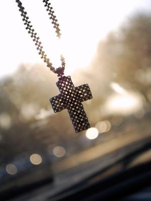 十字架吊坠手机壁纸
