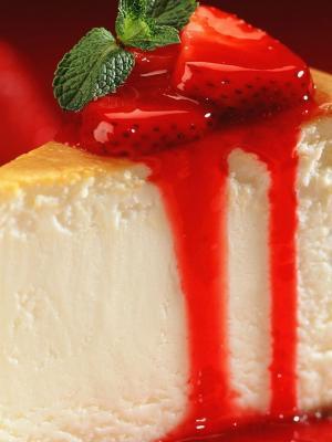 草莓移动壁纸的巧克力蛋糕