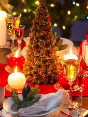 圣诞晚餐表移动壁纸