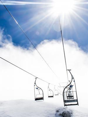 山索道滑雪胜地手机壁纸