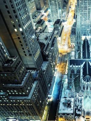城市景观灯移动壁纸